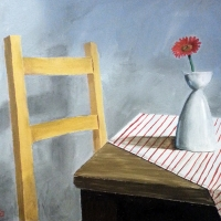 Red Daisy, Yellow Chair